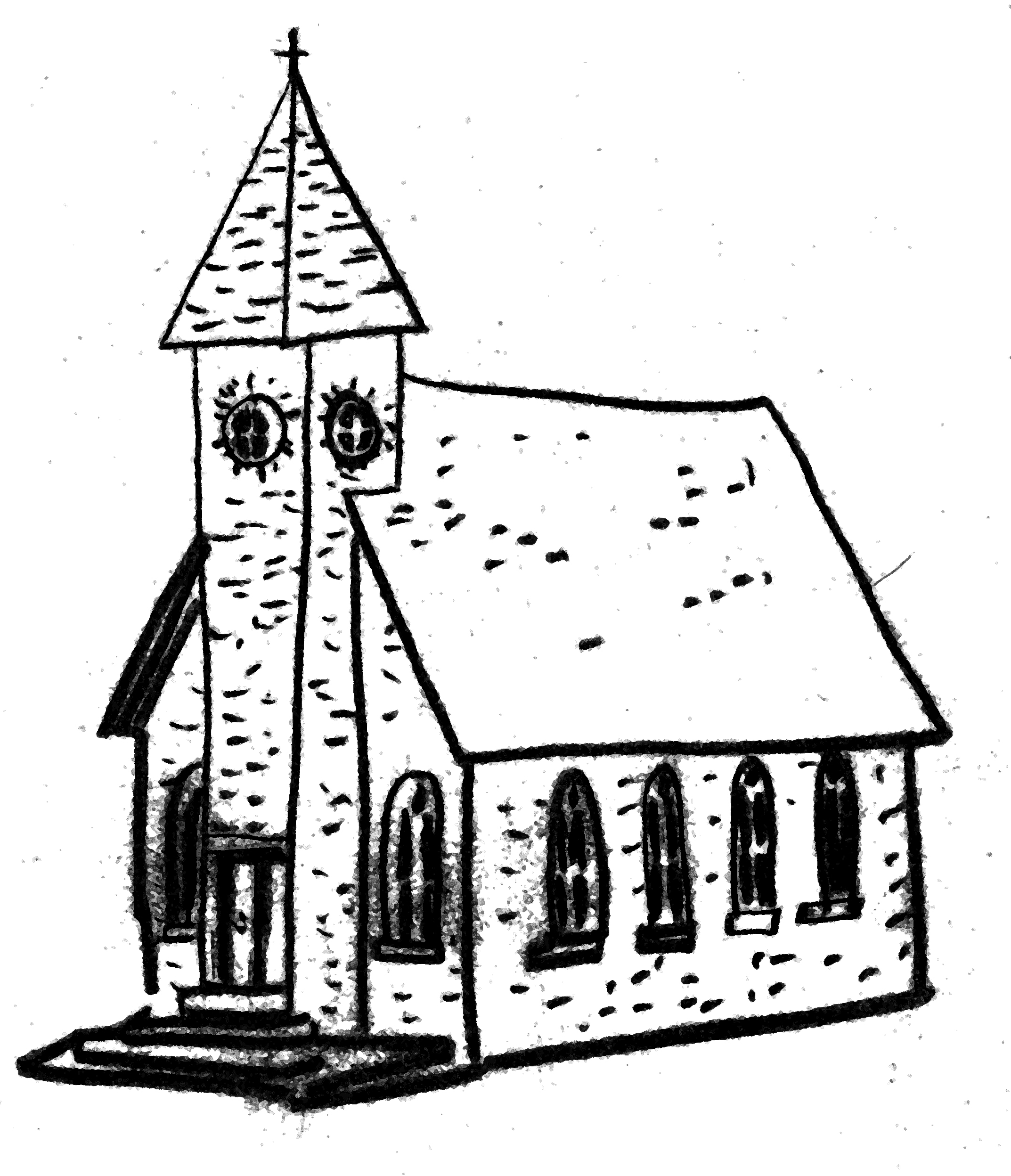 Church Line Drawing Belonging to a Church