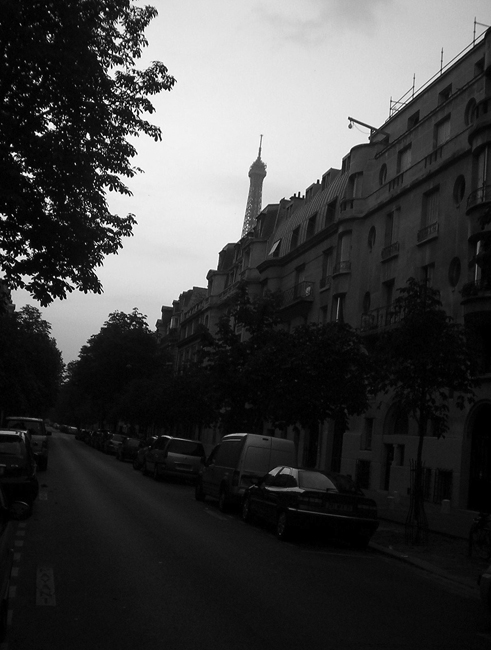 eiffle tower from our street
