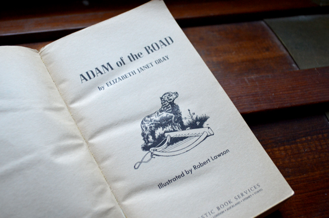 Adam of the Road inside cover