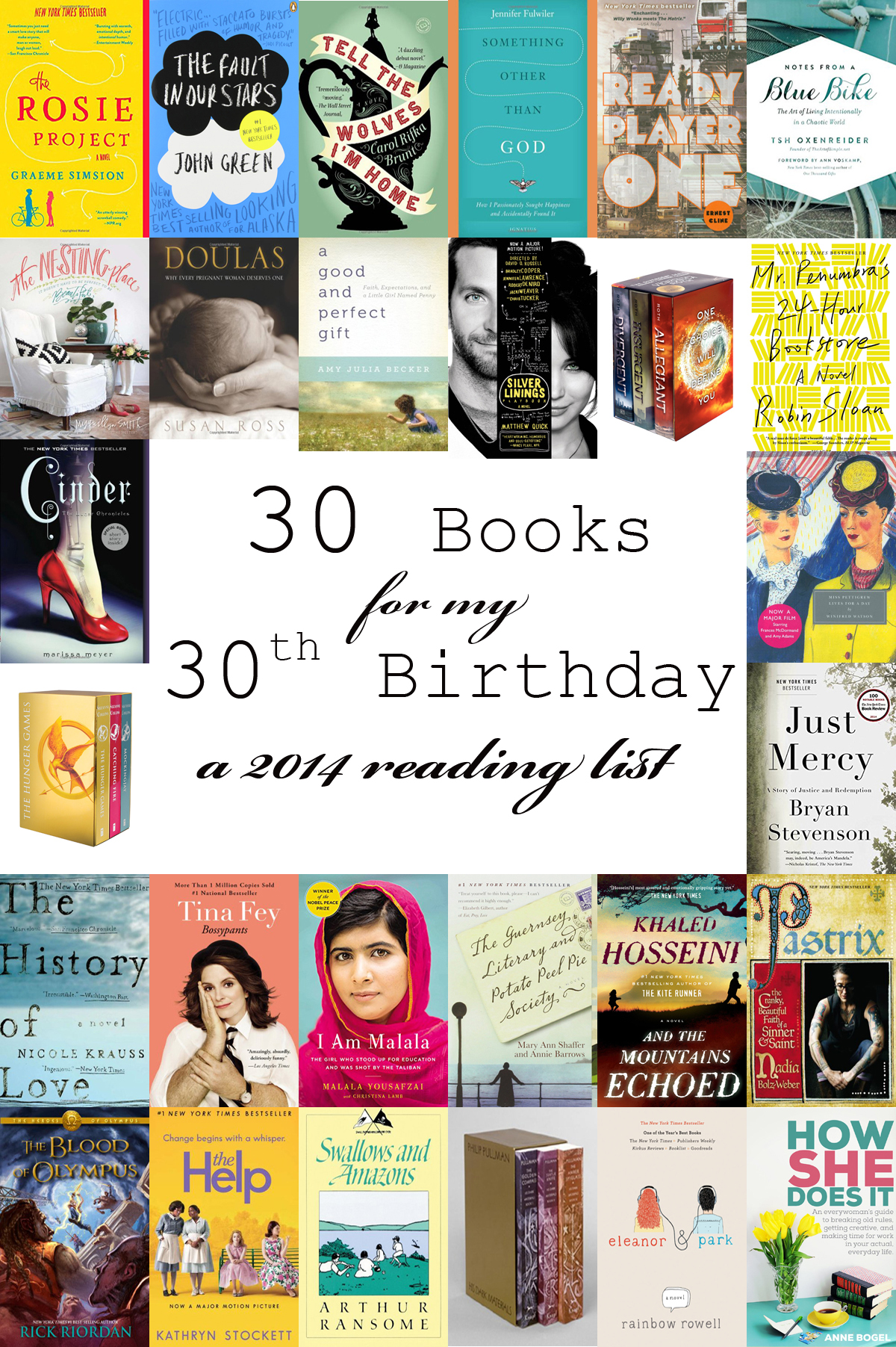 30 books for my 30th birthday
