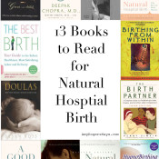 13 books to read for natural hospital labor and birth