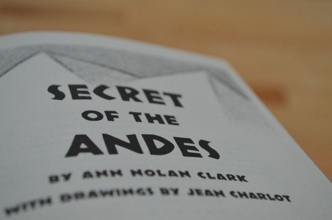 Secret of the Andes the secret